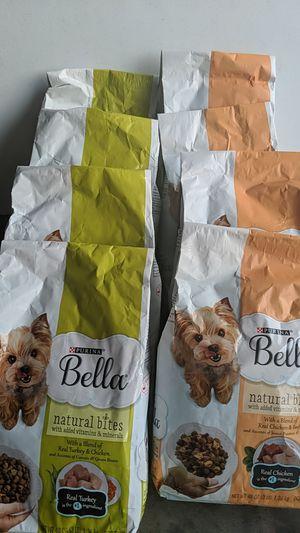Purina Bella Dog Food 8 bags total (3 lbs per bag) for Sale in Columbia, SC