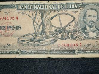 Billete De 10 Firmado Por El Che for Sale in Miami Gardens,  FL