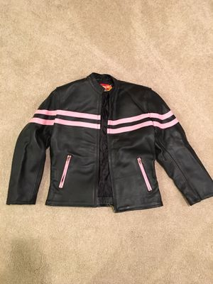 Ladies Leather Motorcycle Jacket Size L for Sale in Palos Hills, IL