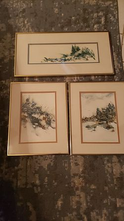 Originals by dorothy Gallant singed matted and framed originals water colors. for Sale in Waco,  TX