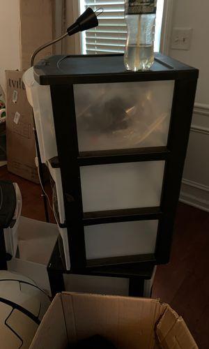 3 Tier plastic drawers for Sale in Atlanta, GA