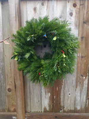 Handmade evergreen Christmas wreaths for Sale in Seattle, WA
