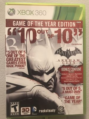 Batman Arkham City - Game of the Year Edition - XBOX 360 for Sale in Cary, NC