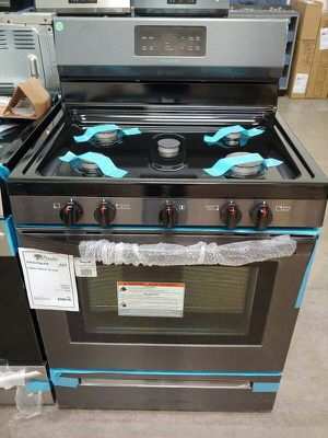 New Black Stainless Gas Range 1yr Manufacturers Warranty for Sale in Chandler, AZ