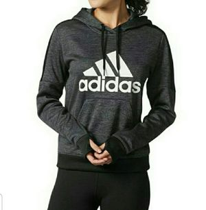 Adidas fleece hoodie with kangaroo pockets size small for Sale in Lynbrook, NY
