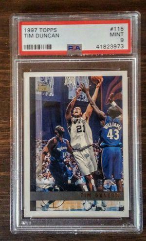 Tim Duncan San Antonio Spurs 1997-98 Topps #115 Rookie Card PSA 9 MINT for Sale in San Antonio, TX