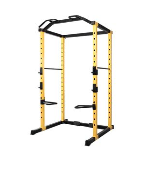 1000-Pound Capacity Multi-Function Adjustable Power Cage with, Dip Bars, J-Hooks and Other Optional Attachments for Sale in Los Angeles, CA