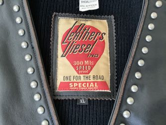 Leathers Diesel motorcycle Vest for Sale in Tacoma,  WA