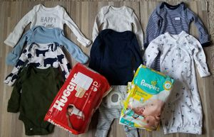 Premmie clothes and diapers for Sale in San Diego, CA