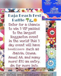 VIP Baja beach fest for Sale in Glendora,  CA