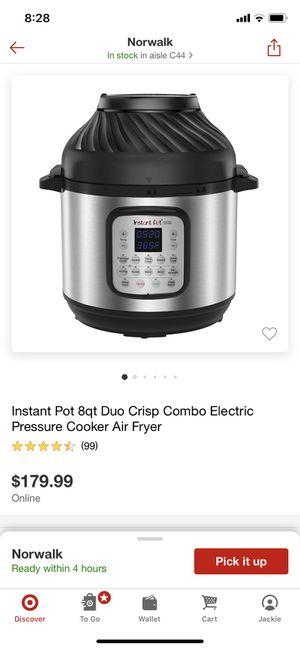Instant pot Due Crisp+ air fryer $125 New for Sale in Downey, CA