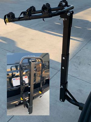 """New in box 3 Bike Carrier Rack car hitch mount holds 3 beach cruiser Bicycles fits standard 1.25"""" and 2"""" Hitch receivers for car suv truck for Sale in Whittier, CA"""