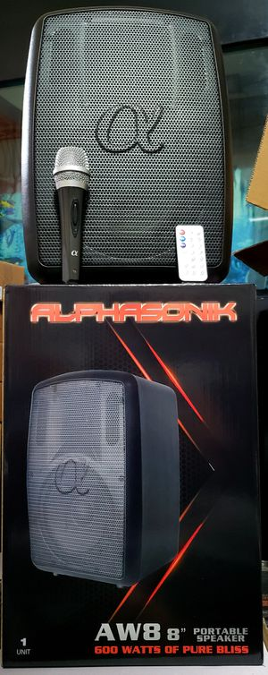 Alphasonik bluetooth portable loud speaker brand new with remote and microphone 🎤 👌 for Sale in City of Industry, CA