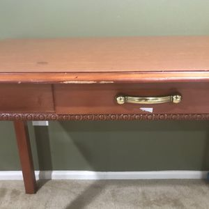 Wood table with drawer $25 for Sale in Hamilton Township, NJ