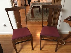 Pair of Antique Oak Chairs for Sale in Atherton, CA