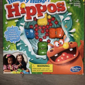 Hungry Hungry Hippos Family Board Game Hasbro Classic Gaming, Ages 4 And Up NEW Nrmnt Pkg for Sale in Las Vegas, NV