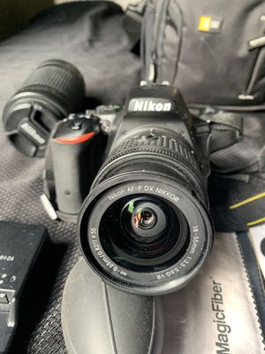 Nikon D5500 DSLR Camera with 18-55mm Lens Bundle (Camera, Nikon NIKKOR 18-55mm Lens, Nikon NIKKOR 55-200mm Lens & Cleaning Kit), Carrying case ($1000 for Sale in San Francisco, CA