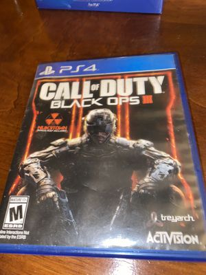 Call of Duty BO3 PS4 for Sale in South El Monte, CA