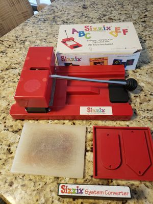 Sizzix Lollipop die-cutter with assorted dies included for Sale in Vinton, VA