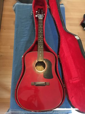 Washburn D-10 TR Acoustic Guitar with hard shell padded case for Sale in Mount Rainier, MD