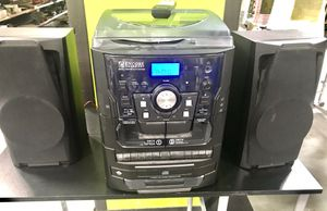 A COMPLETE STEREO WITH TURNTABLE,3 CD PLAYER,MP3,CASSETTE,RADIO WITH REMOTE CONTROL for Sale in Sanford, FL