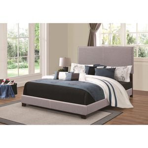 Brand New Grey Fabric Queen Size Bed Frame! for Sale in Tallahassee, FL