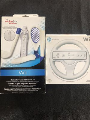 Wii Sports Kit and Driving Wheel Excellent Condition for Sale in Alhambra, CA