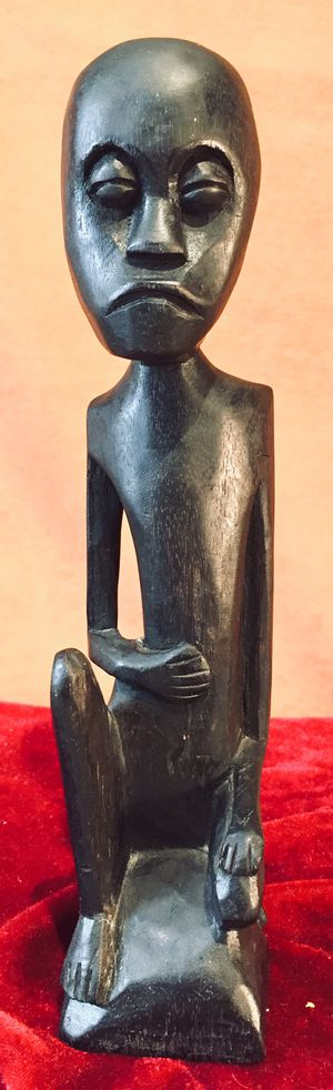 Vintage African art - hand carved wood figurine H10xW2xD2 inch for Sale in Chandler, AZ