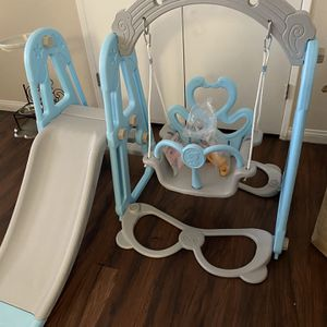 Toddler kids swing set with slide and basketball hoop. Brand new! for Sale in Anaheim, CA