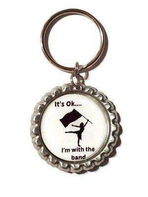 I'm With The Band ColorGuard Key Chain,Purse Charm,Zipper Pull,ColorGuard Zipper Pull,ColorGuard Backpack Tag, ColorGuard Team Favors for Sale in Walkerton, IN
