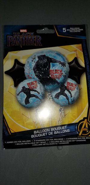 New marvel mylar black panther balloon bouquet for Sale in San Diego, CA