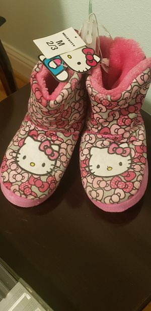 Brand New Hello Kitty Pink Booty Slippers for Sale in Boring, OR