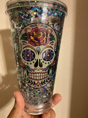 Skull glitter cup for Sale in Temecula, CA