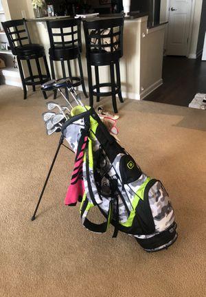 Golf clubs with Ogio bag, towel, ladies glove, golf balls for Sale in Arlington, VA
