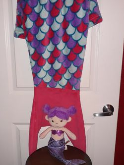 Mermaid Tail Blanket With Doll for Sale in San Antonio,  TX