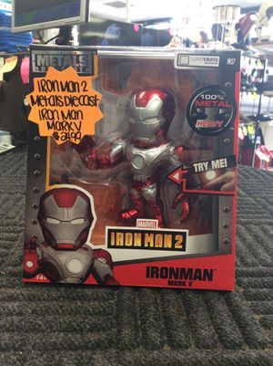 Metal Die Cast Iron Man 2 Iron Man Mark V Figure for Sale in Humble, TX