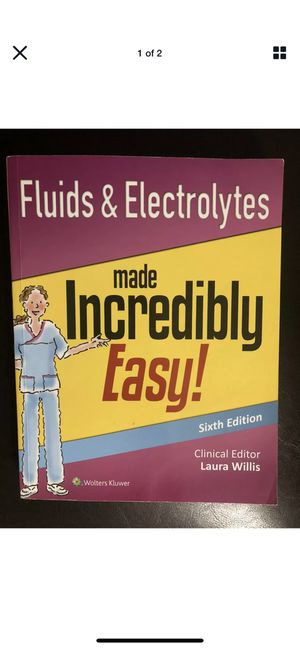 Incredibly Easy! Series®: Fluids and Electrolytes Made Incredibly Easy! by... for Sale in Middletown, NJ