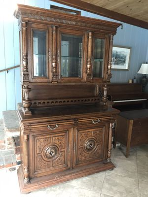 Antique Display Cabinet Hutch for Sale in Orange, CA