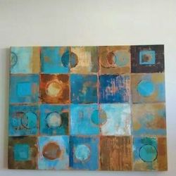 Modern Abstract Canvas Painting Art Decor for Sale in Arlington,  VA