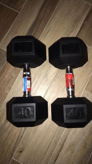 40lb dumbbells for Sale in Hollywood, FL