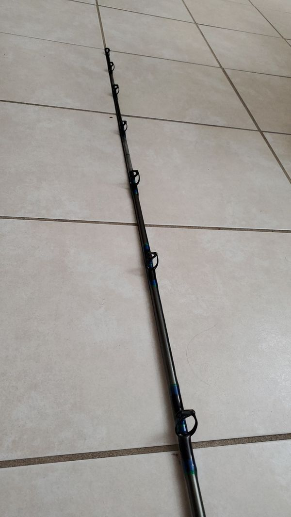 Okuma T15 Lever Drag Conventional Fishing Reel 7' Custom Rod Pole Beefy