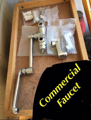 New comercial faucet. Works best for 3 compartment stainless steel sink New new. New. for Sale in Ontario, CA