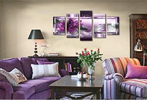 Purple Flower Canvas Wall Art Modern Abstract Floral Print Painting Artwork for Sale in Marquette, MI