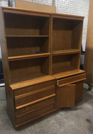 Solid oak shelving/storage units for Sale in Coraopolis, PA