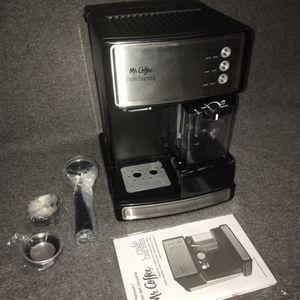 Mr. Coffee Espresso and Cappuccino Maker | Café Barista , Silver for Sale in Las Vegas, NV