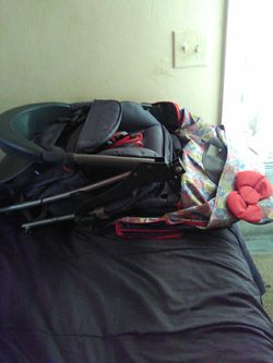 Hello Kitty stroller and toddler bed for Sale in Norfolk,  VA