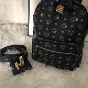 MCM LARGE BACK PACK AND BELT COMBO for Sale in Baldwin Park, CA