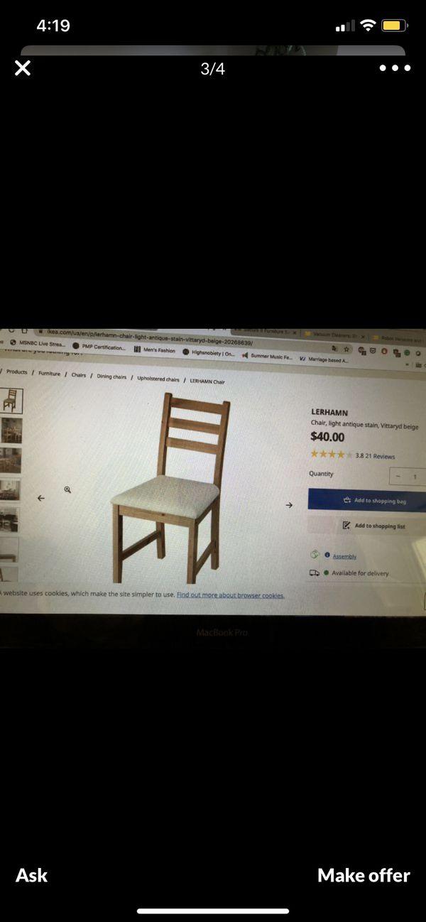 5pc IKEA Lehrman Wooden Dinning Set