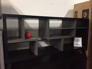 Tv Stand, Black & Distressed Grey, #161868 for Sale in Santa Fe Springs, CA