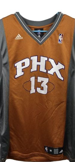 Steve Nash 13 NBA PHX Suns ADIDAS Jersey M Orange/Gray Sewn for Sale in Peoria,  IL